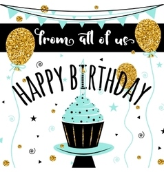 Happy birthday card happy birthday vector