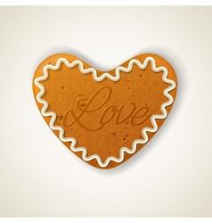 Happy valentines day cookie vector