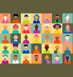 hipster people icons vector image vector image