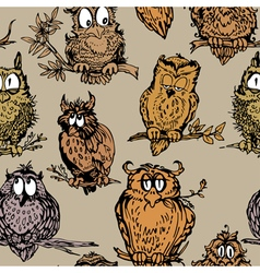 owl seamless 2 380 vector image vector image