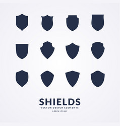 set of different shields templates for design of vector image vector image