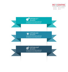 abstract element infographics 3 option design for vector image