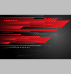 abstract technology red grey speed stripes on dark vector image