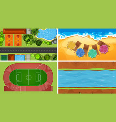 Aerial view backgrounds vector