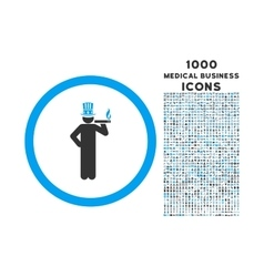 American Capitalist Rounded Icon with 1000 Bonus vector