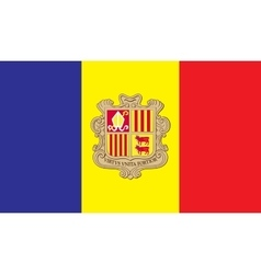 Andorra flag image vector image