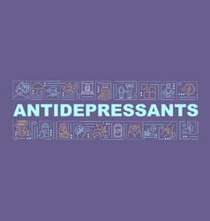 antidepressants concepts banner vector image