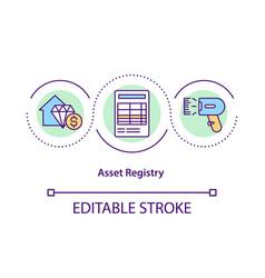 asset registry concept icon vector image