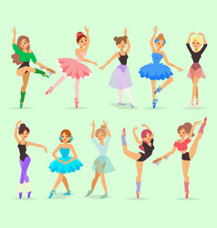 Ballerina girl professional ballet dancer vector