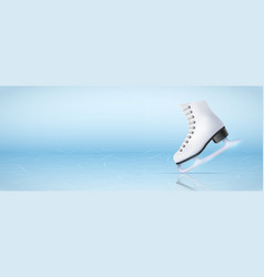 banner template of ice skating rink vector image