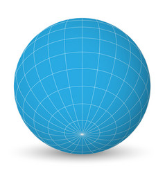 Blank planet earth blue globe with grid of vector