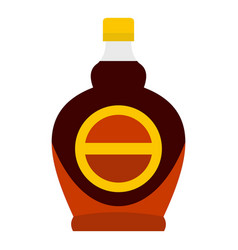 Bottle of maple syrup icon isolated vector