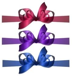 Bowknot and ribbon vector