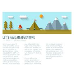 Camping flat design vector image