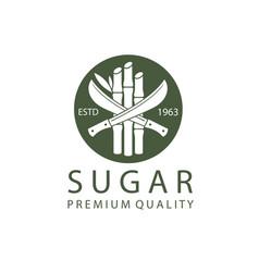 Cane sugar emblem vector