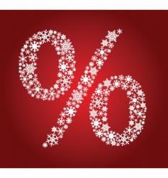 Christmas percentage vector