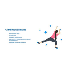 climbing wall rules vector image