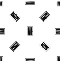 Closed white window pattern seamless black vector