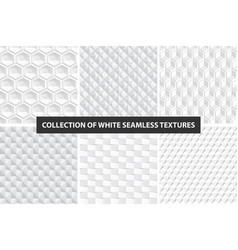 decorative white seamless textures geometric vector image