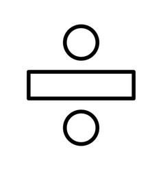 Divide basic element icon vector