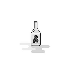drink bottle web icon flat line filled gray icon vector image