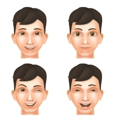 Face of glad young man vector image