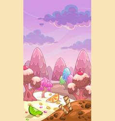 fantastic sweet landscape vector image