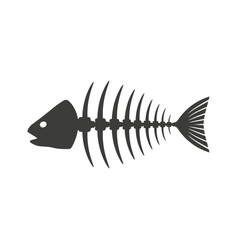 fish skeleton icon isolated vector image