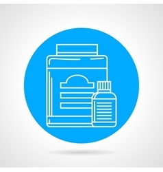 Flat round icon for sport supplements vector image