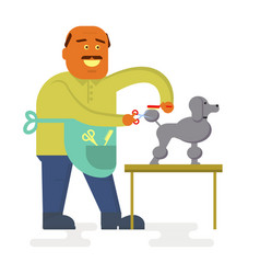 funny groomer character vector image