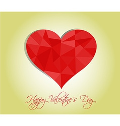 Happy valentines day cards with hearts vector