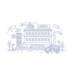 hospital clinic or medical center building vector image
