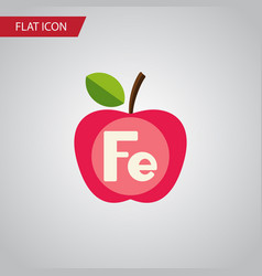 isolated ferrum flat icon apple element vector image
