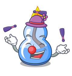 Juggling alcohol burner mascot cartoon vector