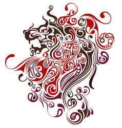 lion image design tattoo emblem logo vector image