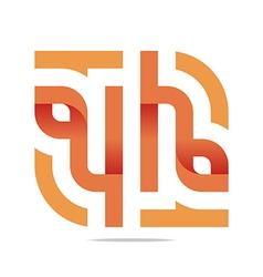 Logo Letter Infinity Number 4 Lettering Design vector image