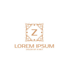Luxury monogram letter y initials logo universal vector