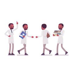 male black scientist walking vector image