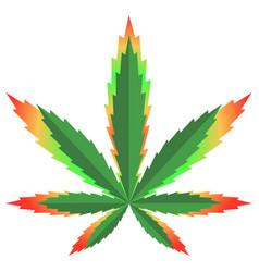marijuana flag colour picture vector image