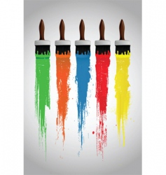 Paint brushes vector