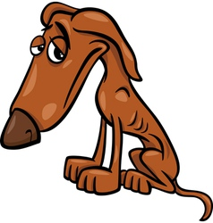poor hungry dog cartoon vector image