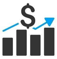 Sales Bar Chart Icon vector