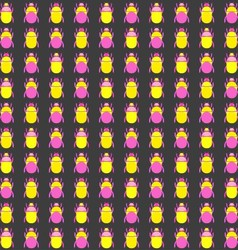 Seamless pattern with bugs vector