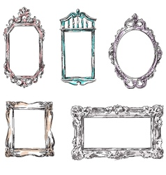 Set of retro frames vector