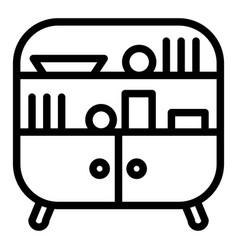 Sideboard line icon cabinet vector