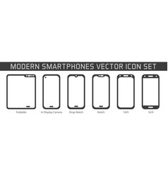smartphone technology line icon design vector image