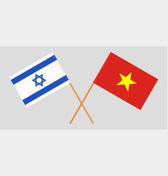 Socialist republic of vietnam and israel flags vector