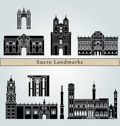 Sucre landmarks vector