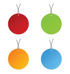 tag sale circle set vector image