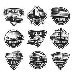 Urban Transport Logotype Set vector image